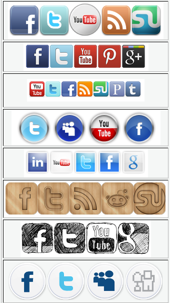 Social Media Button Sets