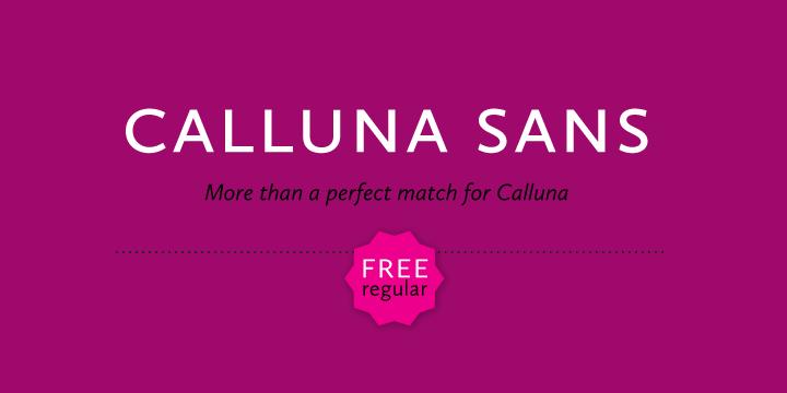Calluna Sans font
