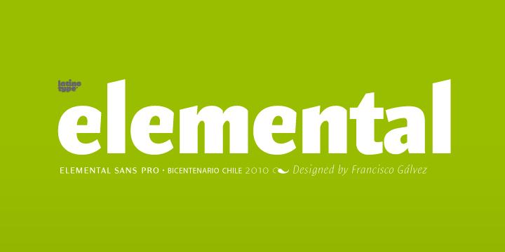 Elemental Sans font