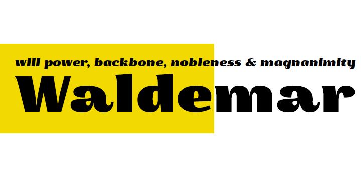 Waldemar font