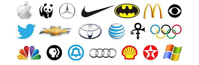 Internationally known standalone symbol logos
