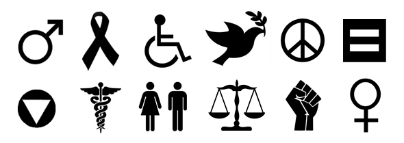 International symbols of Advocacy, Human rights, Health, and Activism: