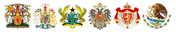 coat of arms for various countries