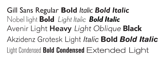 classic san-serif typefaces