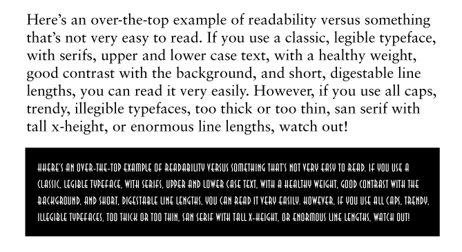 is your typography readable? Type readability: best and worst cast scenarios