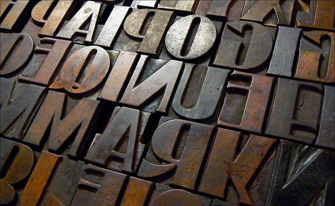 wood type from the Hamilton Wood Type & Printing Museum
