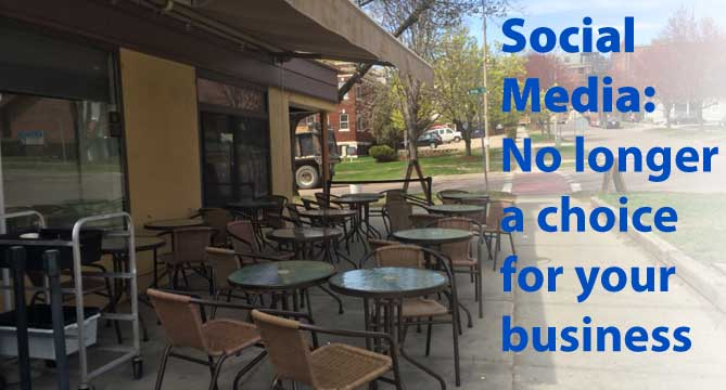 Social Media: No Longer a Choice for Business - empty restaurant image