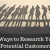 5 Ways to Research Your Potential Customers